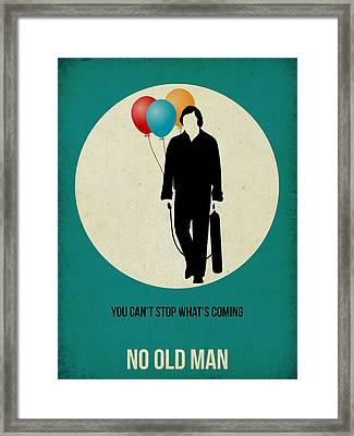 No Country For Old Man Poster 2 Framed Print by Naxart Studio