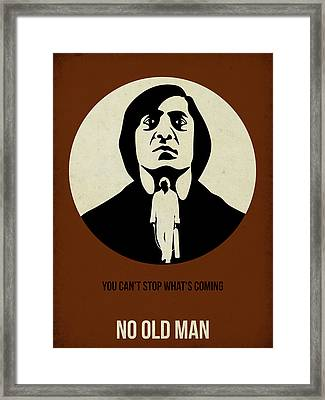 No Country For Old Man Poster Framed Print by Naxart Studio