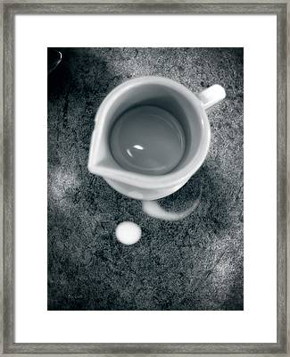 No Cream For My Coffee Framed Print by Bob Orsillo