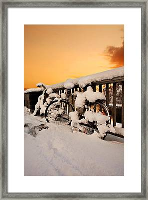 No Cycling Today Framed Print