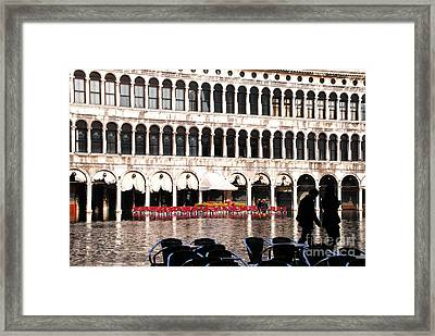 No Dining Out  Framed Print by Jacqueline M Lewis