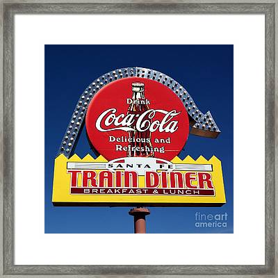 No Dinner At The Diner Framed Print by Mel Steinhauer