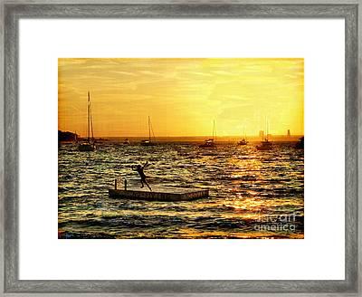 No Diving Framed Print by Jeff Breiman