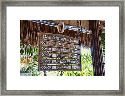 Framed Print featuring the photograph No Doppler Needed by Joetta West