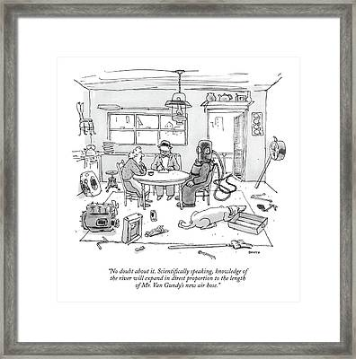 No Doubt About It. Scienti?cally Speaking Framed Print by George Booth