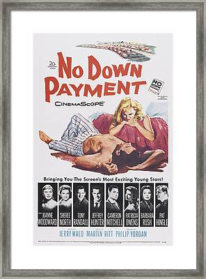 No Down Payment, Us Poster Art Framed Print by Everett