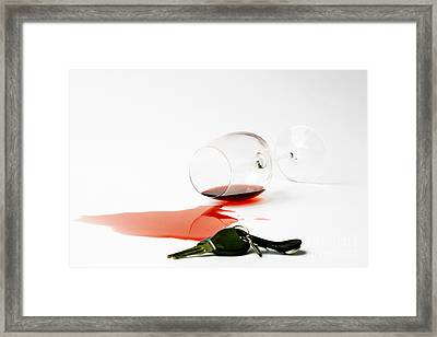 No Drunk Driving Framed Print by Patricia Hofmeester