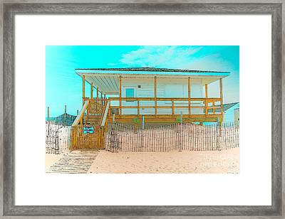 No Entry Lifeguards Only Framed Print by Gary Keesler