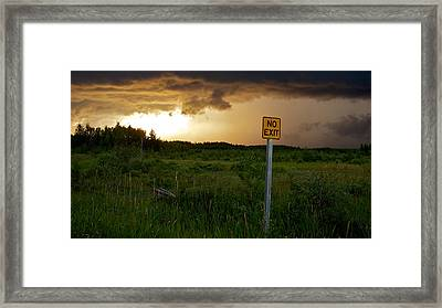 Framed Print featuring the photograph No Exit by Trever Miller