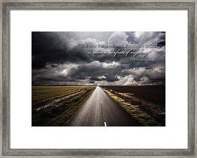 No Fear Framed Print
