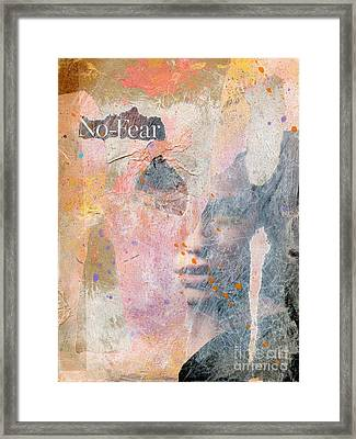 No Fear Framed Print by P J Lewis