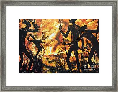 No Fire For The Antelopes Framed Print by Pg Reproductions