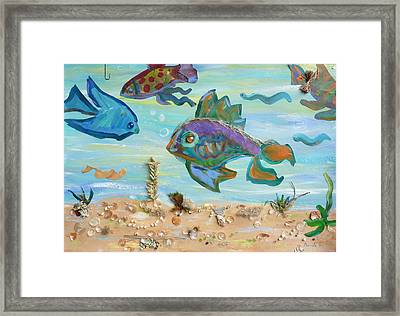 No Fishing Framed Print by Brenda Ruark