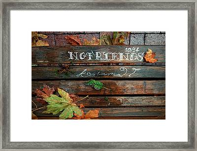 Framed Print featuring the photograph No Friends by Gwyn Newcombe