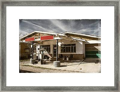 Framed Print featuring the photograph No Gas by Steven Bateson