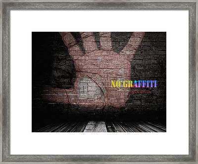 No Graffiti Framed Print