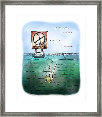 No Grasping Framed Print by Mark Armstrong