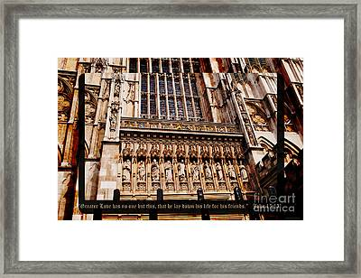 No Greater Love Framed Print