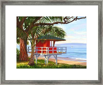 No Guard On Duty - Kamaole Beach Framed Print