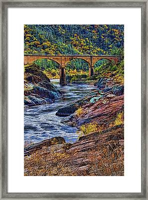 No Hands Bridge Auburn Ca Framed Print by Mike Durant
