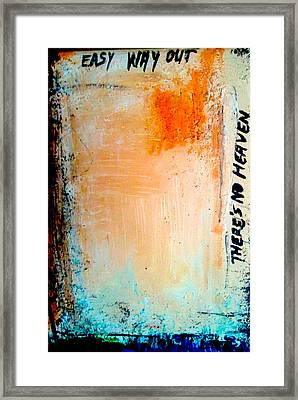 No Heaven II Framed Print by Mirko Gallery
