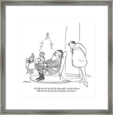 No 'ho-ho-ho' At All Framed Print by Al Ross