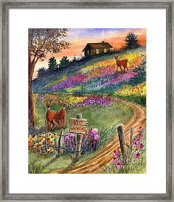No Hunting Framed Print by Marilyn Smith