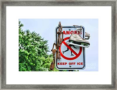 No Ice Skating Today Framed Print by Paul Ward