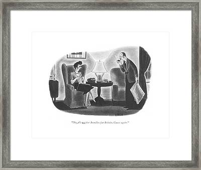 No, It's Not For Bundles For Britain. Guess Again Framed Print by Richard Taylor