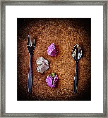 Framed Print featuring the photograph No Knife ... by Chuck Caramella