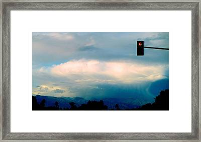 No Left Turn For Cloud Framed Print by Randall Weidner
