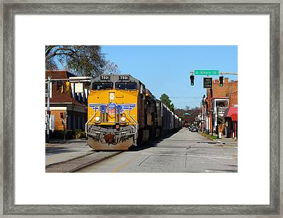 No Left Turn Framed Print