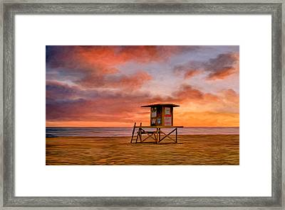 No Lifeguard On Duty At The Wedge Framed Print by Michael Pickett
