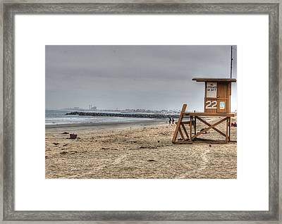 No Lifeguard On Duty Framed Print
