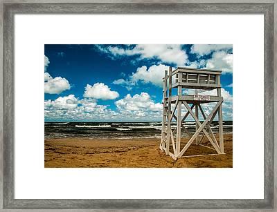 No Lifeguard On Duty Framed Print by Gene Sherrill