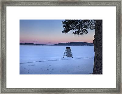 No Lifeguard Spofford Lake Framed Print