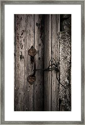 No Lock Framed Print by Liz  Alderdice