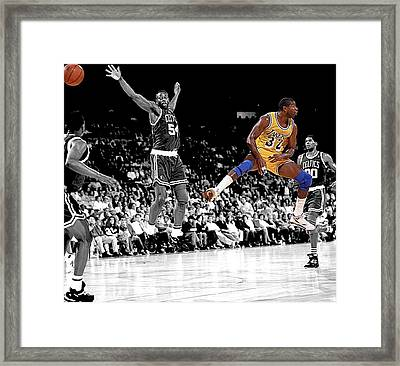 No Look Pass Framed Print