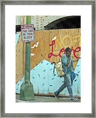 No Love Today Framed Print by Joe Jake Pratt