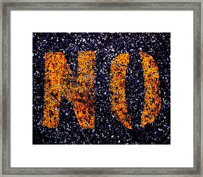 NO Framed Print by Lyle Crump