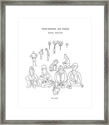 No Mail Framed Print by Saul Steinberg