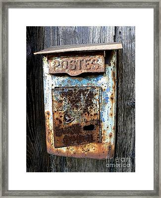 No Mail Today Framed Print by France  Art