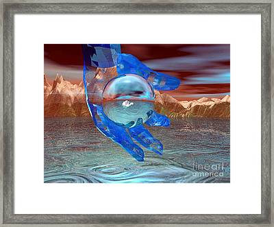 No Man Is An Island Framed Print by Asegia