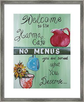 No Menus Framed Print