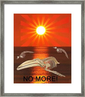 No More Framed Print by Eric Kempson