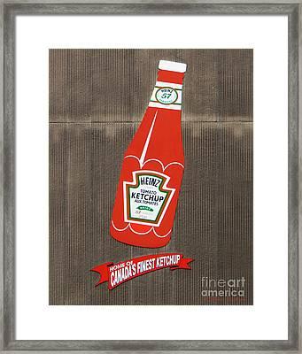 No More Ketchup Framed Print by Barbara McMahon