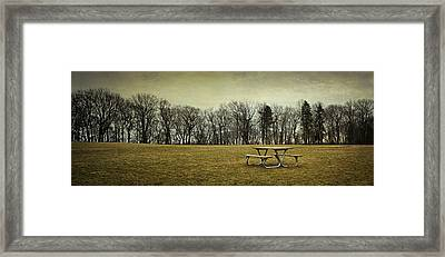 No More Picnics Framed Print by Scott Norris