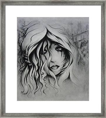 No More Tears Framed Print by Rachel Christine Nowicki