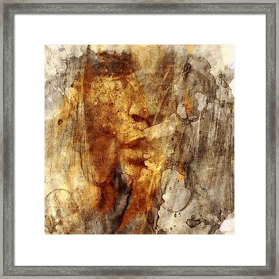 No Name Face Framed Print by Marian Voicu