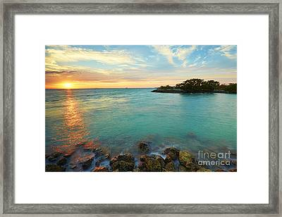 No Name Harbor Sunset Framed Print by Eyzen M Kim